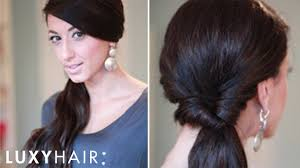 simple looped side ponytail youtube