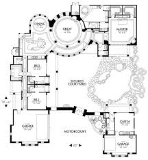 interior courtyard house plans plan 16312md courtyard plan with guest casita amazing houses