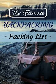 Michigan Travel Laundry Bag images Backpacking packing list 2018 pro hacks and tips for packing png