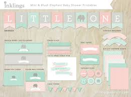 printable decorations pink and blue baby shower baby