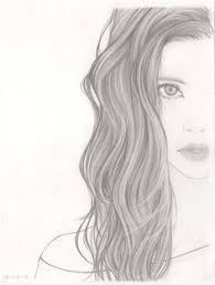 girls face sketch looking down google search sketch art