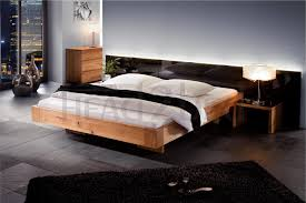 Floating Beds by Solid Wood Beds Hasena Oakline Cora Abia 2 Solid Oak Floating