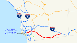 Traffic Map San Diego by California State Route 94 Wikipedia