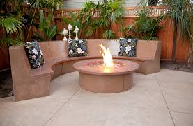 Concrete Patio Tables And Benches Hawaiian Style Decorative Concrete Patio W Waterfall Fire Pit