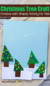 easy winter scene christmas tree shape craft for kids christmas