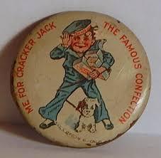 Personalized Cracker Jack Boxes 1910 Cracker Jack Pin Back