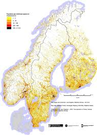 Population Density Map Population Density Of Norway Finland And Sweden Maps Pinterest
