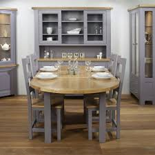 light oak dining room sets charltons bretagne painted lacquered oak oval extending dining table