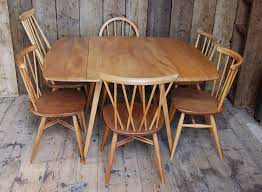 Square Drop Leaf Table Ercol Square Drop Leaf Table 2 Light Elm Mid Century Mod Vintage