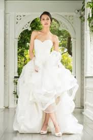 strapless sweetheart short a line lace and tulle informal bridal