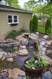fountains and waterfalls outdoor spaces patio ideas decks latest