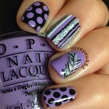 10 cute and easy nail designs ideas black nails purple and black