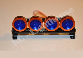 Led Blue Light Bar by Rc Led Light Bar In Orange With Blue Lenses Rc Lighthouse