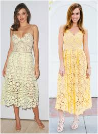 inspired by miranda kerr u0027s yellow lace dress sydne style