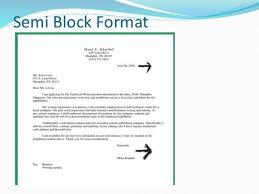 letter formats 7 semi block format business letter formats cover