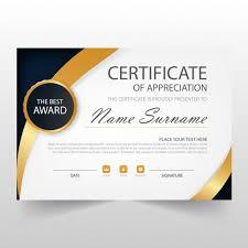 elegant horizontal certificate template vector free download