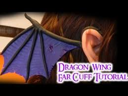 dragon wing ear cuff 2 different styles polymer clay tutorial
