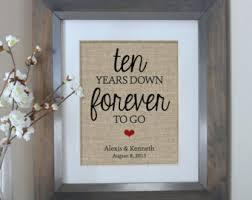 10 years anniversary gift 10 year anniversary etsy