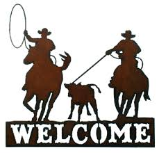 Western Moments Original Home Furnishings And Decor Western Wall Decor Rustic Metal Welcome Sign Rodeo Lasso Western