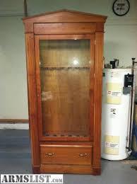 Wood Gun Cabinet Armslist For Sale Cherry Wood Gun Cabinet