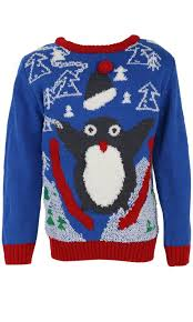 3d sweater childrens boys jumper penguin knitted
