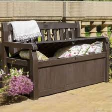 Storage Seat Bench Outdoor Patio Storage Bench Deck Box Seat Pool Container Bin Chest
