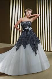 white and grey wedding dress naf gown black plus size wedding dress grey white wide black white