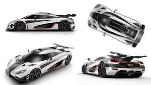 Koenigsegg One 1 Car Vehicle Simple Background Collage Super