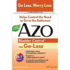 I Have To Go To The Bathroom Amazon Com Azo Bladder Control With Go Less Dietary Supplement