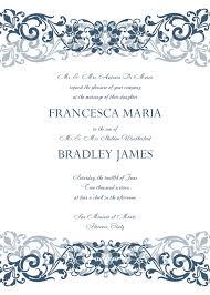 sle wedding invitations wording wedding invitations templates rectangle white blue floral pattern