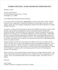 sample scholarship recommendation letter 7 examples in word pdf