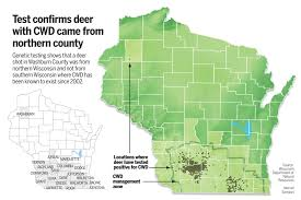 Counties In Wisconsin Map by Deer With Chronic Wasting Disease Was From North Dnr Says