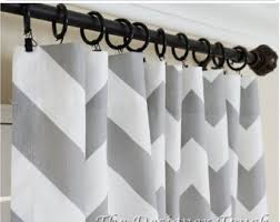 Gray Chevron Curtains Chevron Curtains Etsy