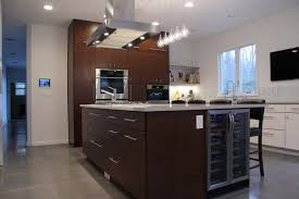 kitchen island with cooktop and seating modern kitchen with island seating cooktop and wine fridge