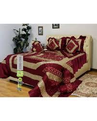buy maroon color bridal bed sheets online in pakistan ebuy pk