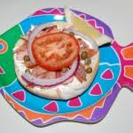 smoked salmon bagels with garden vegetable cream cheese cooking