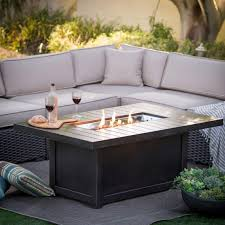 outdoor table ls battery operated napoleon st tropez patio flame fire table rectangular