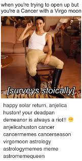 Astrology Meme - 25 best memes about anjelica huston anjelica huston memes