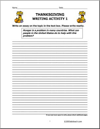 thanksgiving elementary writing prompts i abcteach