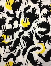 ghastlies gorey cat black scaredy cats kitten crescent moon