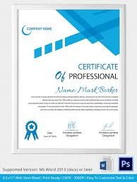 modern and editable certificate pf professional template design