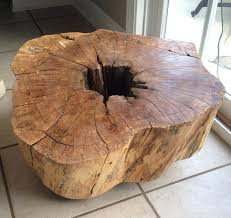 tree trunk dining table tree trunk table if you wish to do more than one layer of stain let