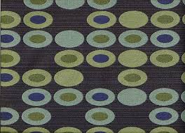 Houston Upholstery Fabric Woven Mid Century Modern Contemporary Geometric Shapes Ovals