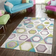 Wohnzimmer Modern Retro Teppich Modern Preiswert Wohnzimmer Teppiche Retro Style Grün