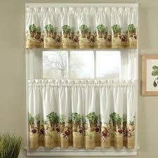 kitchen curtains ideas 3 window kitchen curtains muarju