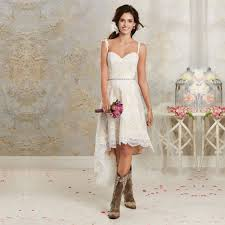 wedding dresses that go with cowboy boots enchanting high low wedding dresses