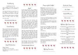 catholic wedding program templates with mass displaying catholic wedding program mass diy wedding 32763