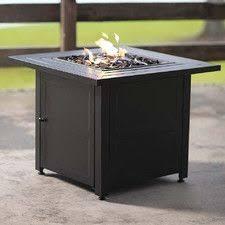 propane fire pit canada shop real flame 65 000 btu liquid propane square fire table at