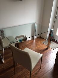 glass chrome dining table danetti glass and chrome dining table and 4 chairs in newcastle