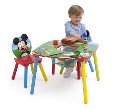 Play Table With Storage And Chairs Amazon Com Disney Mickey Mouse Storage Table And Chairs Set By